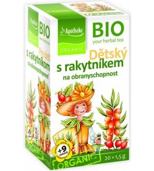 APOTHEKE Dětský bylinný čaj s rakytníkem 20 x 1,5 g