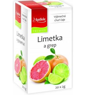 APOTHEKE čaj Limetka a grep 20 x 2 g