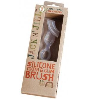 Jack N´ Jill silikonový kartáček na zuby a dásně