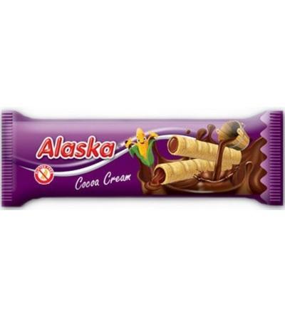 Alaska Kukuřičné trubičky bezlepkové plněné kakaovým krémem 18 g