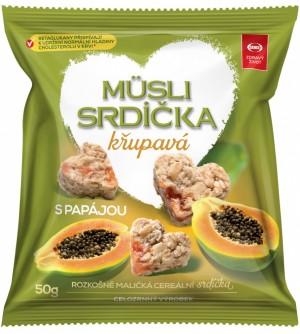 Semix Musli srdíčka křupavá papája 50 g