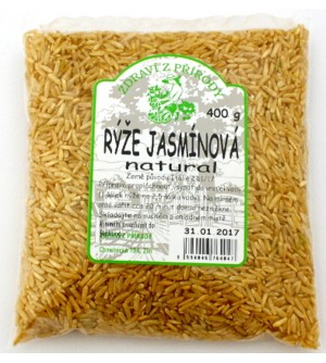 ZDRAVÍ Z PŘÍRODY Rýže jasmínová natural 400 g