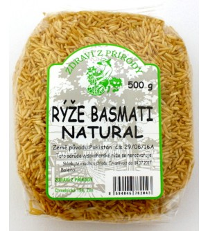 ZDRAVÍ Z PŘÍRODY Rýže basmati natural 500 g