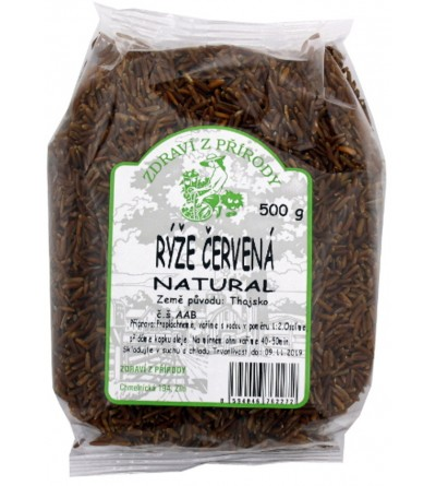 ZDRAVÍ Z PŘÍRODY Rýže červená natural 500 g