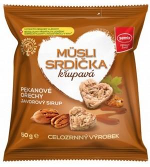 Semix Musli srdíčka s pekany a javorovým sirupem 50 g