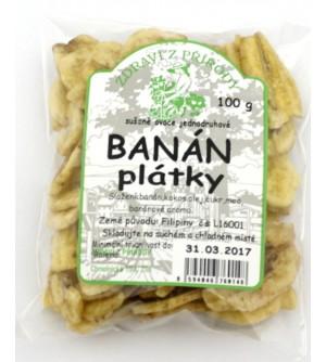 ZDRAVÍ Z PŘÍRODY Banán plátky 100 g