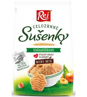 REJ Sušenky celozrnné mini lískooříškové 190 g