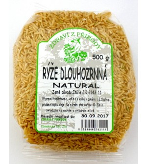 ZDRAVÍ Z PŘÍRODY Rýže dlouhozrnná natural 500 g