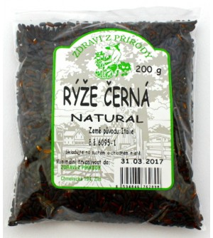 ZDRAVÍ Z PŘÍRODY Rýže černá 200 g