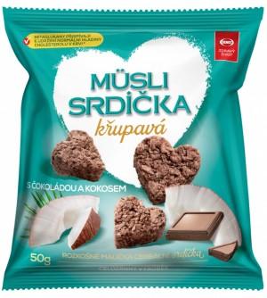 Semix Musli srdíčka křupavá kokos, čokoláda 50 g