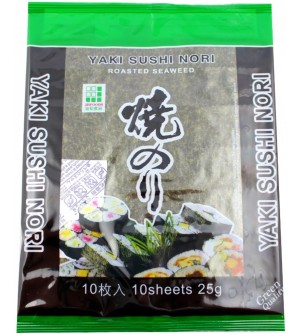 Řasa Nori green 10 listů
