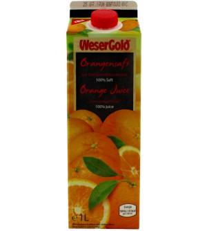 Wesergold Pomerančová šťáva 1 l