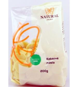 NATURAL JIHLAVA Kakaové máslo 200 g