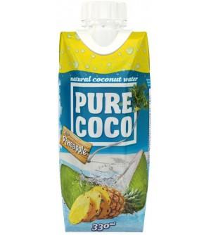 Pure Coco Kokosová voda s ananasem 330 ml
