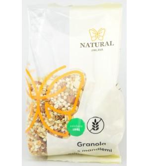 NATURAL JIHLAVA Granola s mandlemi bezlepková 200 g