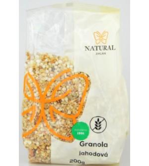 NATURAL JIHLAVA Granola jahodová bezlepková 200 g