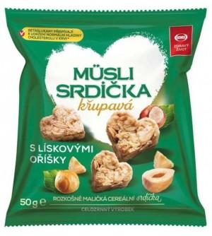 Semix Musli srdíčka oříšková 50 g