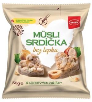 SEMIX Musli srdíčka s lískovými oříšky 50 g