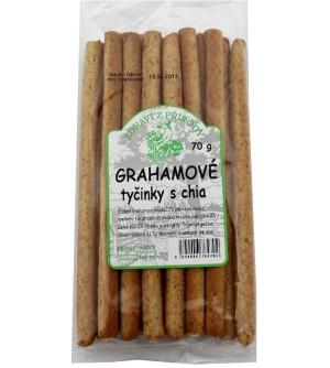 ZDRAVÍ Z PŘÍRODY Grahamové celozrnné tyčinky chia 70 g