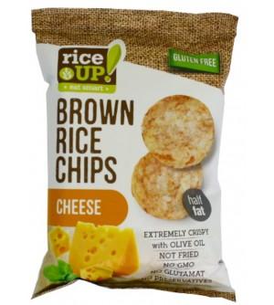 Nuhealth Rýžové chipsy sýr 60 g