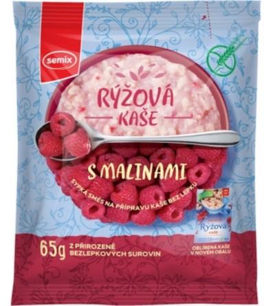 Semix Rýžová kaše malinová bez lepku 65 g