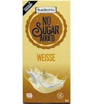 Frankonia Bílá čokoláda bez přidaného cukru 80 g