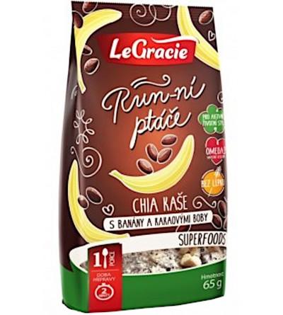 LeGracie Chia kaše banány a kakaové boby 65 g