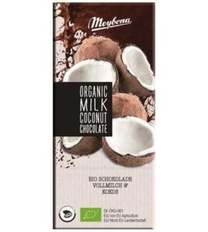Meybona BIO mléčná čokoláda s kokosem 100 g