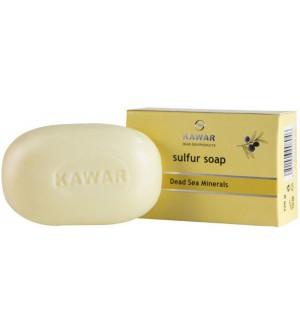 KAWAR Sírové mýdlo s minerály z Mrtvého moře 120 g