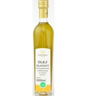 NATURAL JIHLAVA Olej olivový extra panenský nefiltrovaný 500 ml