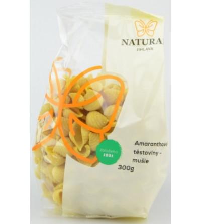 NATURAL JIHLAVA Těstoviny amaranthové mušle 300 g