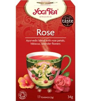 Yogi Tea Bio čaj Růže 17 x 2 g