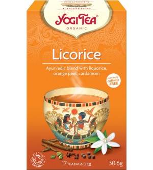 Yogi Tea Bio čaj Lékořice 17 x 1,8 g