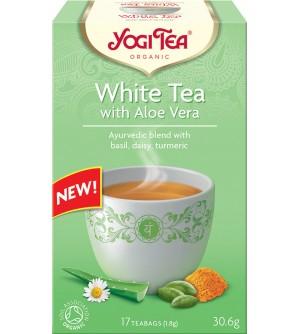 Yogi Tea Bio čaj Bílý s aloe vera 17 x 1,8 g