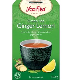 Yogi Tea Bio Zelený čaj Zázvor Citrón 17 x 1,8 g