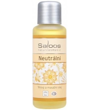 SALOOS Neutrální Bio tělový a masážní olej 50 ml
