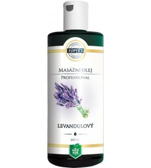 TOPVET Levandulový masážní olej 200 ml