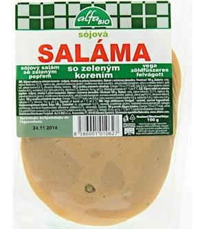 AlfaBio Salám sojový se zeleným pepřem 100 g