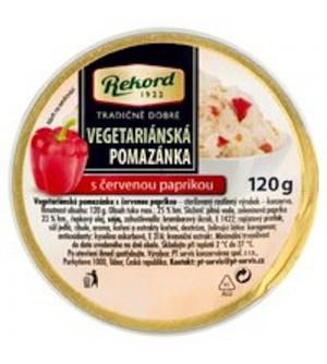 Rekord Vegetariánská pomazánka s červenou paprikou 120 g