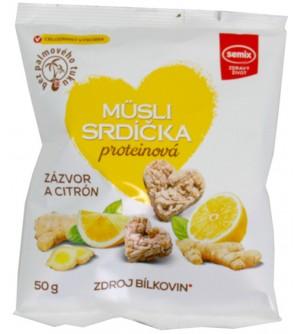 Semix Proteinová srdíčka zázvor, citron 50 g