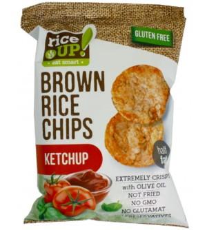 Nuhealth Rýžové chipsy kečup 60 g