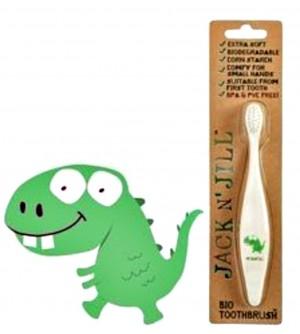 JACK N' JILL BIO zubní kartáček Dino