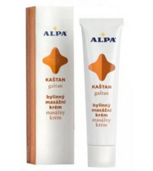 Alpa bylinný masážní krém kaštan 40 ml
