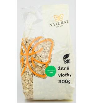 NATURAL JIHLAVA Vločky žitné BIO 300 g