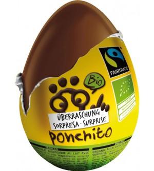 Ponchito Bio čokoládové vajíčko 20 g