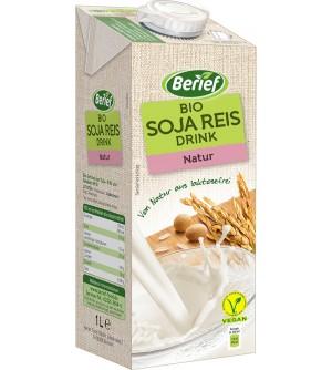 BERIEF Sójovo-rýžový nápoj natur BIO 1 l