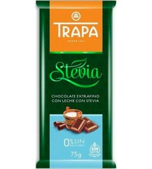 TRAPA Mléčná čokoláda se stévií 75 g