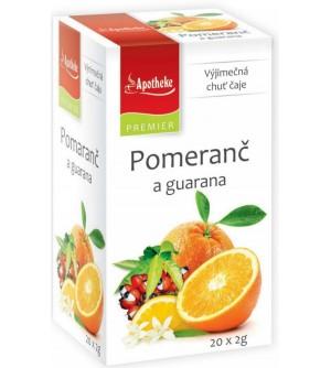 APOTHEKE PREMIER Pomeranč a guarana čaj 20 x 2 g