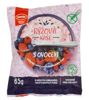 Semix Rýžová kaše s ovocem bez lepku 65 g